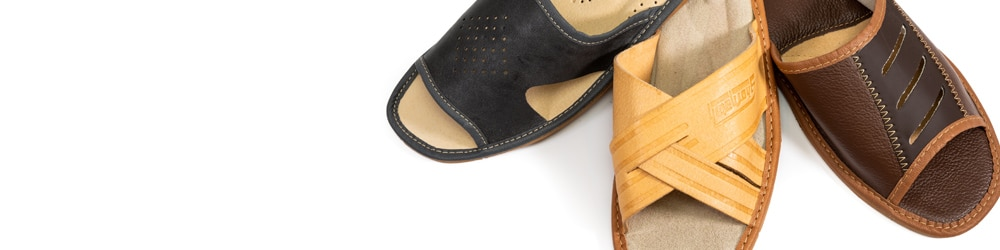 Pantofle męskie odkryte